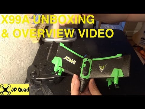 X99A Quadcopter Unboxing - Courtesy of Banggood