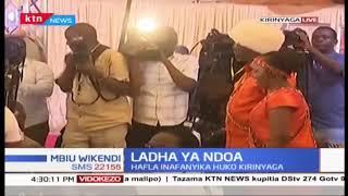 Rais Kenyatta ahudhuria ndoa ya Waiguru na Kamotho mjini Kirinyaga