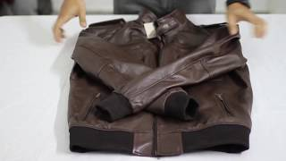 Unboxing Of Brian Brown Bomber Leather Jacket   Film Jackets