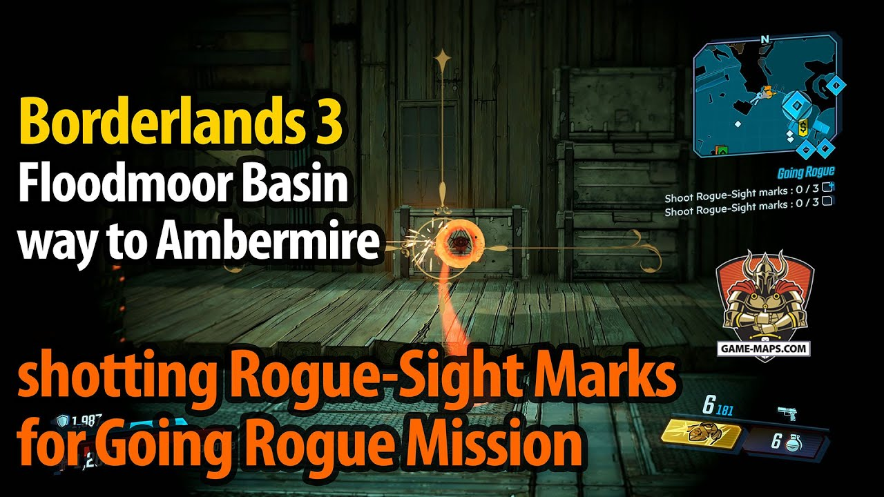Video Floodmoor Basin - way to Ambermire - shotting Rogue-Sight Marks for Going Rogue