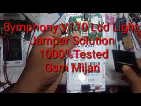 How To SYMPHONY V110 Lcd Light line Jamper Solution 1000