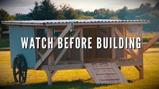 Finishing Justin Rhodes Chickshaw   Mobile Chicken Coop Build   Part 3