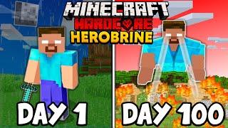 I Survived 100 Days As HEROBRINE In Hardcore Minecraft..