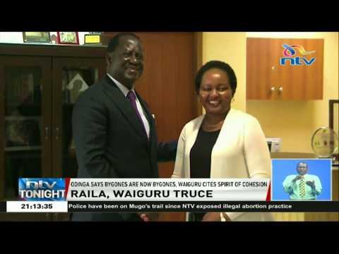 Waiguru withdraws defamation case against Raila over NYS 1 utterances