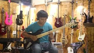 Gitar Jaguar Bass Fender Modified white Customized