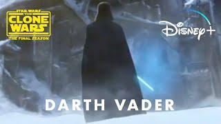 Star Wars The Clone Wars Final Episode - Darth Vader Scene   Disney+