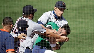 Ramón Laureano gets Baited by the Astros into a Fight