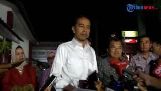 Presiden Jokowi Beserta Jusuf Kalla Jenguk Korban Luka Bom Kampung Melayu di RS Polri