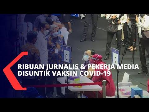 Ditinjau Langsung oleh Jokowi, Berikut Potret Vaksinasi untuk Jurnalis dan Pekerja Media