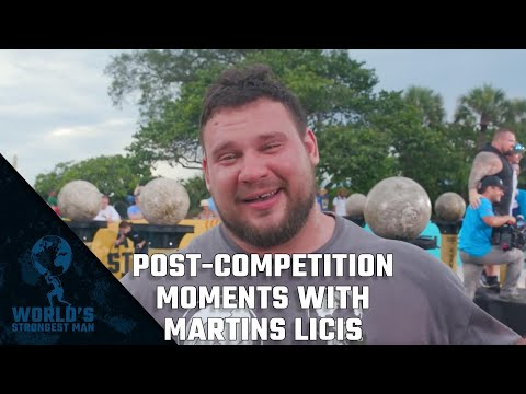 Post Competition Moments with WSM 2019 Martins Licis | World's Strongest Man