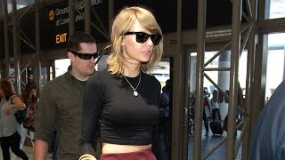 Taylor Swift Takes Her Legs Out Of Town