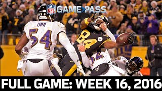The Immaculate Extension: Ravens vs. Steelers 2016, Week 16 FULL GAME