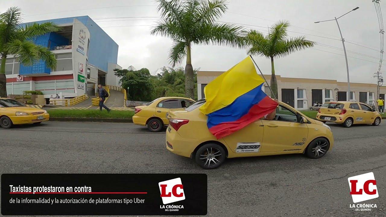 #Cronicalle Taxistas protestaron contra la reforma y la competencia desleal