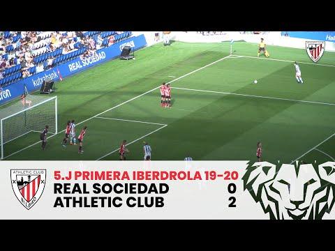 Resumen I J5 Primera Iberdrola I Real Sociedad 0-2 Athletic Club I Laburpena