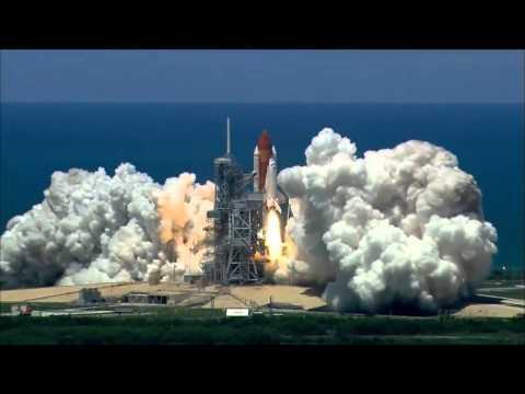 Lanzamiento de transbordador espacial de la NA.S.A.HD.