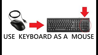 How to use your Computer without mouse  (Use your Keyboard as a Mouse)