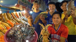 FRESHEST SEAFOOD FEAST! INSANE Seafood Meal at Dampa Market Manila Philippines - Video Youtube