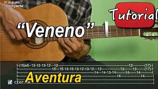 Veneno - Aventura Tutorial/Como tocar en Guitarra