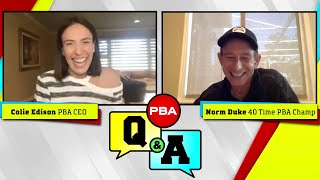 PBA Q&A - Episode 5 - Norm Duke Reveals Who He Thinks is the Greatest Bowler of All Time