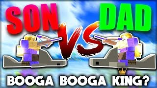 PRO VS NOOB *SON VS DAD* IN BOOGA BOOGA (New Giveaway)   Roblox: Booga Booga
