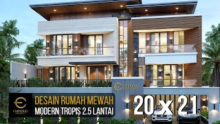 Video Desain Rumah Modern 2.5 Lantai Ibu Fenny di  Manado