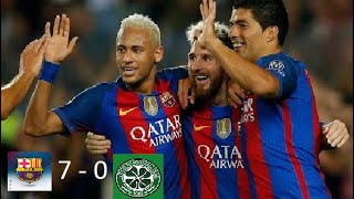 Barcelona Vs  Celtic 7 0 Por La Champions League 2016   2017