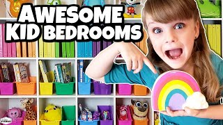 *NEW* Kids Bedroom And House Tour | UNICORN, RAINBOW & MICKEY Themed Rooms + Kitchen And Living Room
