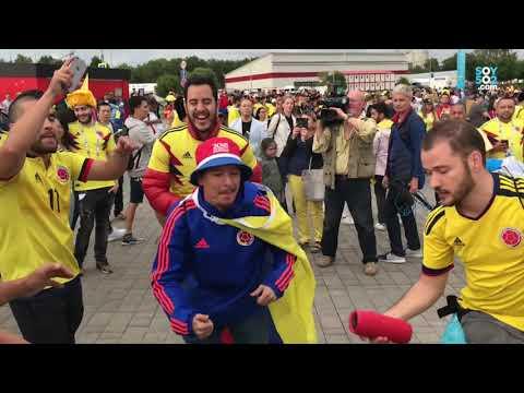 Vivimos el partido de Colombia - Inglaterra a 7 lugares de James Rodríguez