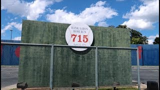 HANK AARON's Record Breaking HOME RUN WALL Is In An Atlanta Park Lot   Travel Vlog (62719)