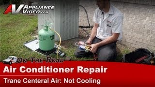 Central Air Conditioner Repair - Not cooling how to scale in refrigerant charge