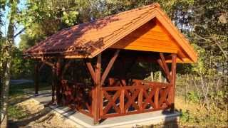 Wiata drewniana altana carport garaż drewna