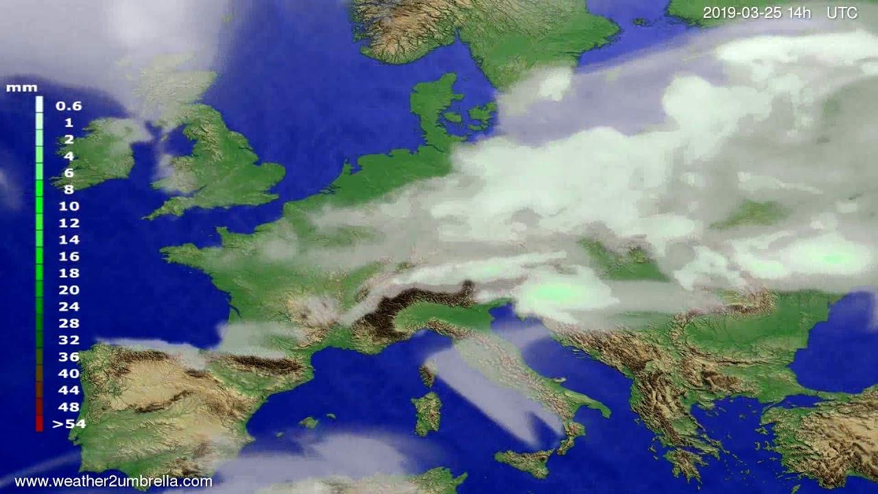 #Weather_Forecast// Precipitation forecast Europe 2019-03-23