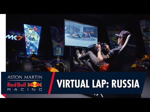 F1 ロシアGP マックス・フェルスタッペンがシュミレーターでソチ・オートドロームを走る動画