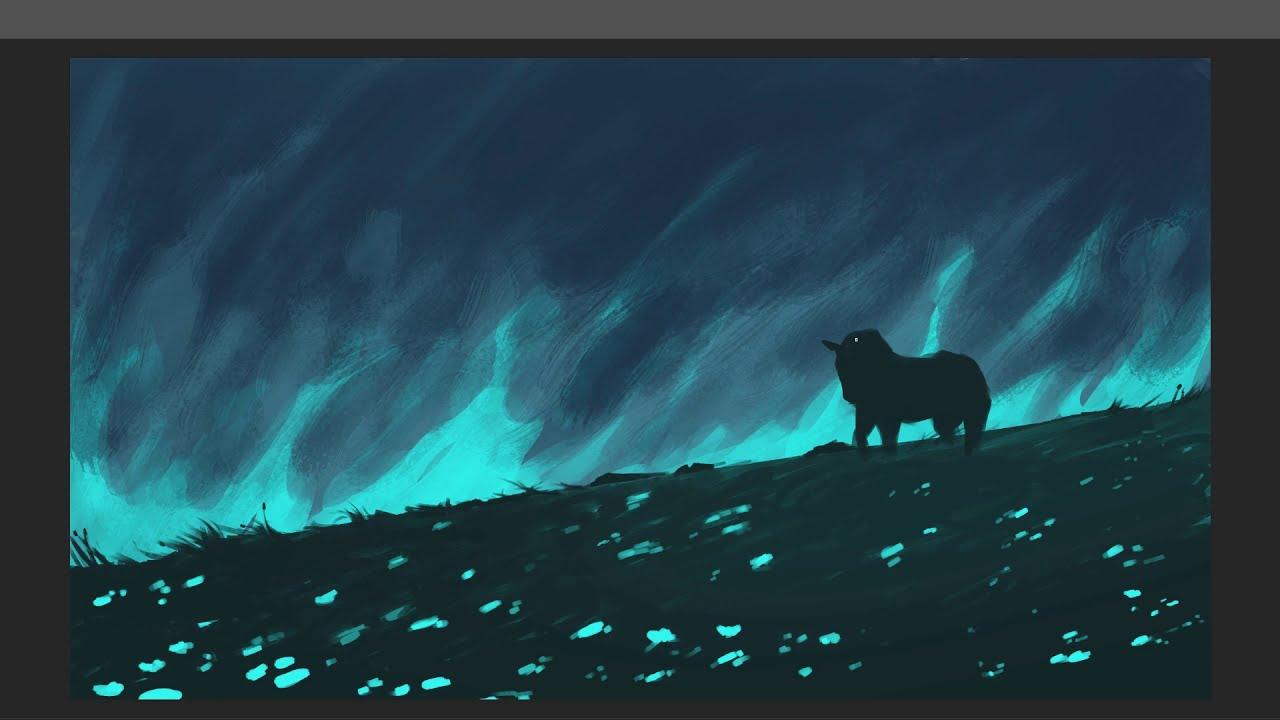 digital painting coming home by gammatrap
