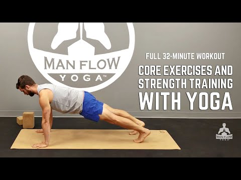 Core Exercises & Strength Training with Yoga - FULL WORKOUT ...