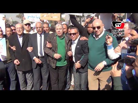 شوبير والعميد يتقدمان مسيرة «رياضيون ضد الإرهاب»