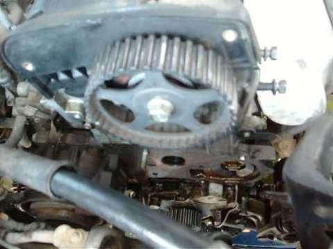 1999 Hyundai Elantra 2.0L. Ремень ГРМ, водяной насос
