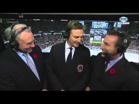 Sergei Fedorov in the booth