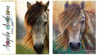 Simple HORSE Portrait LIVE Acrylic Painting Tutorial