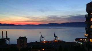 When is sunset in rijeka