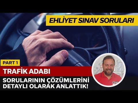 17 Aralık 2016 - Ehliyet Soru Çözüm (Trafik Adabı)