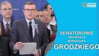 Oświadczenie senatorów wyrażające wsparcie dla marszałka