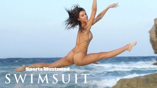 Alexis Ren Wears Nothing But Flowers, Shows Off Puppy Love | Outtakes | Sports Illustrated Swimsuit