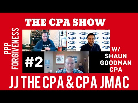 , title : 'THE CPA SHOW Ep#2:  Hosts JJ the CPA & CPA JMac.  PPP Forgiveness Issues w/ Shaun Goodman, CPA'