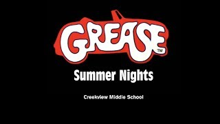 """Creekview Middle School - """"Summer Nights"""" from Grease"""