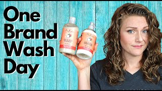 ONE BRAND WASH DAY with Shea Moisture on WAVY HAIR