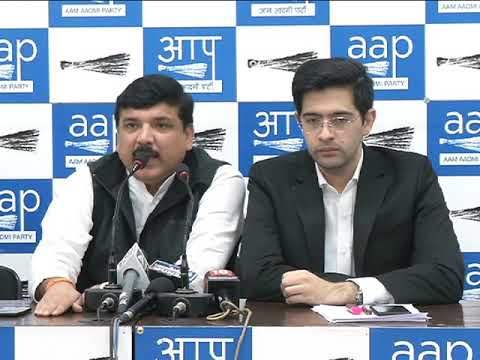 Aap Leader Sanjay Singh Brief Media on the Horrific Issue Occurred In Narela