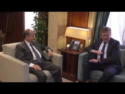 لقاء الوزير/ عمرو نصار مع سفير الاتحاد الاوروبى