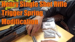 Henry H015 45-70 Single Shot Rifle Modification to the Hammer Spring