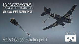 Market Garden parachute jump Wolfheeze: Virtual WWII History by Marcel Bahnen, ImageworX.